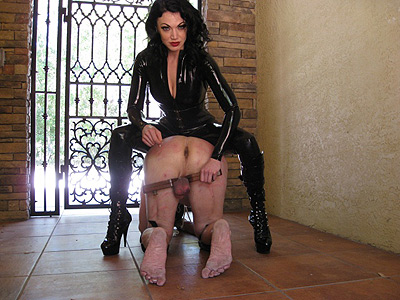 Latex mistress cbt