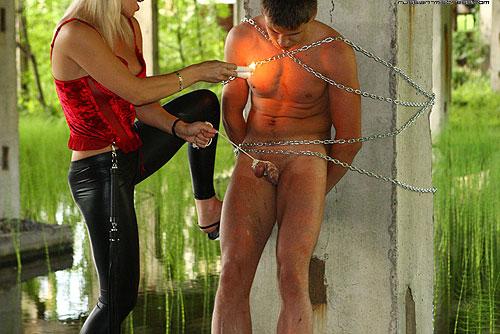 Outdoor CBT Wax Torture